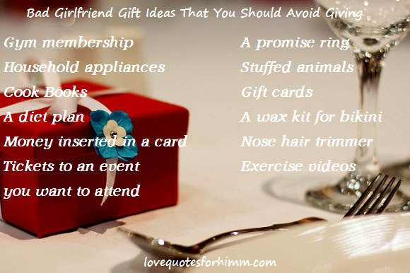 12 Bad Girlfriend Gift Ideas That You Should Avoid Giving