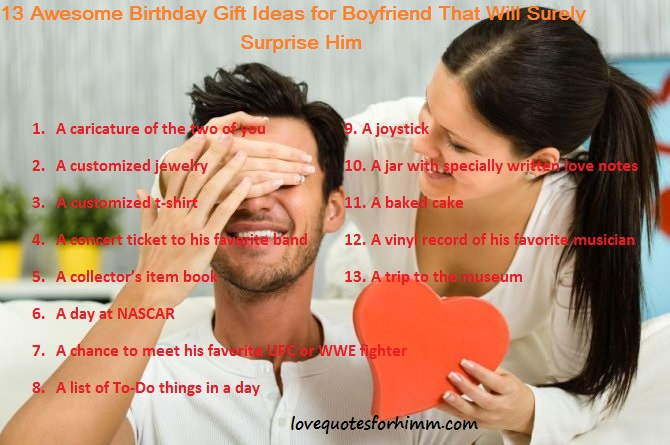 13 Awesome Birthday Gift Ideas for Boyfriend That Will Surely Surprise Him