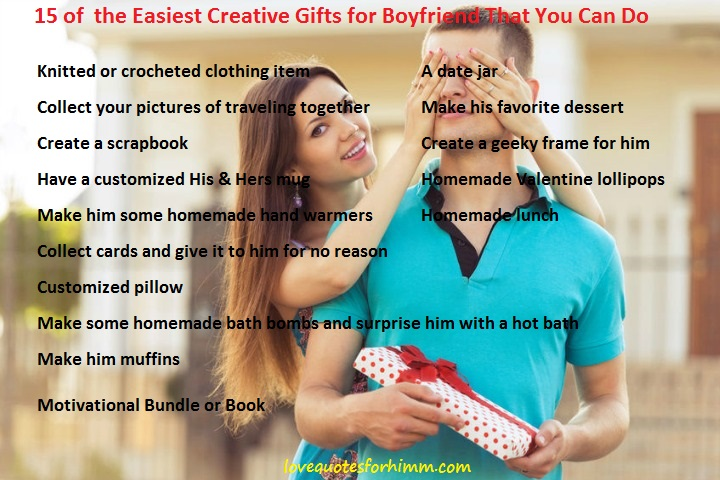 15 of the Easiest Creative Gifts for Boyfriend That You Can Do