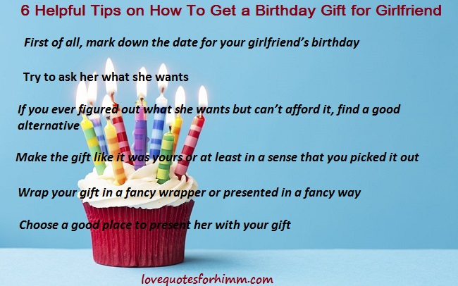 6 Helpful Tips on How To Get a Birthday Gift for Girlfriend