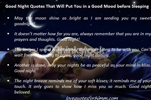 30 Good Night Quotes That Will Put You in a Good Mood before Sleeping