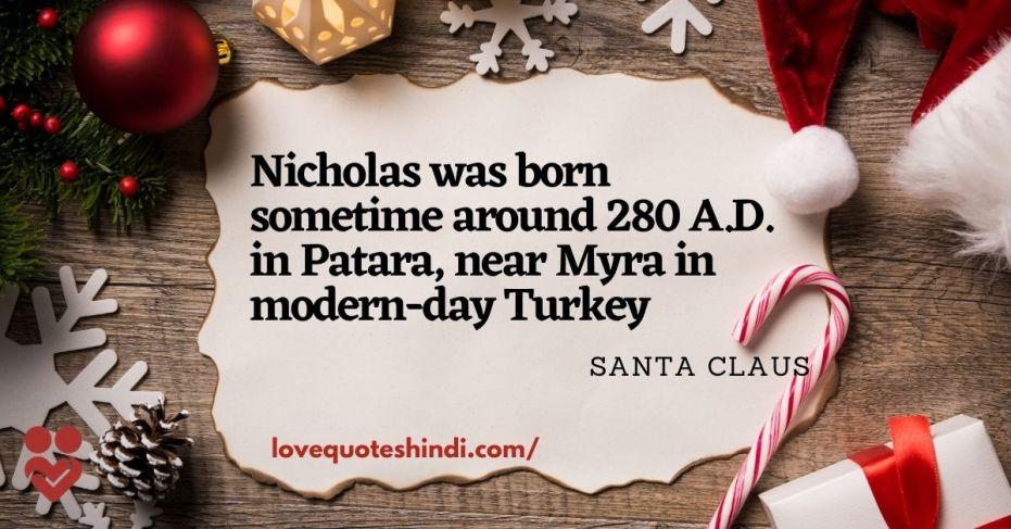 date of birth santa claus