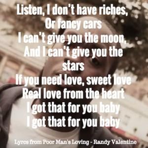 Poor Mans Loving Lyrics