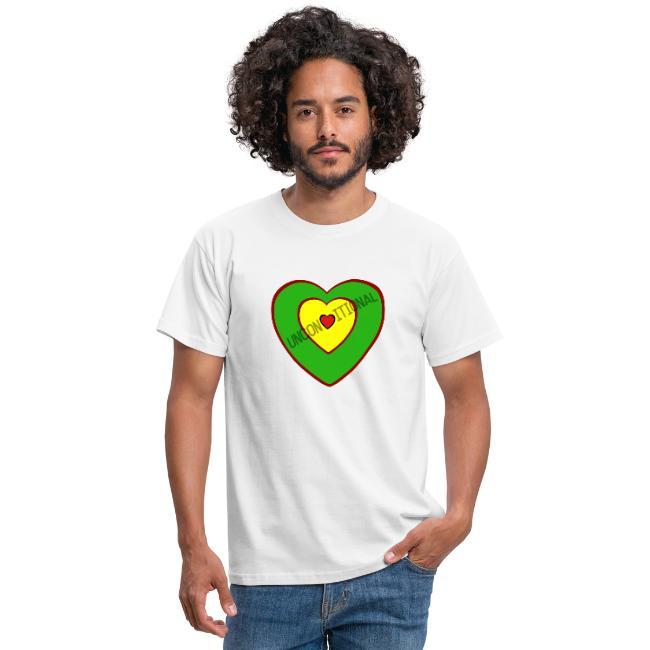Unconditional Love Reggae Mix Mens T-shirt