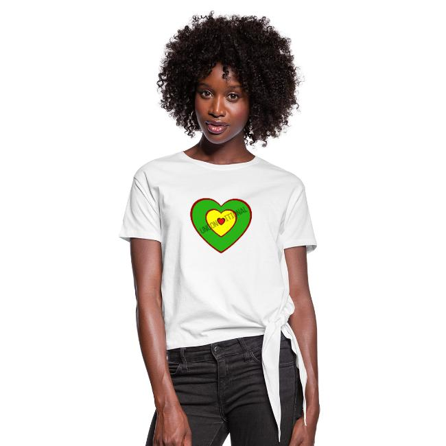 Unconditional Love Reggae Mix Womens Tie-up T-shirt