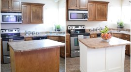 Add Moulding to a Kitchen Island: An Easy How-To