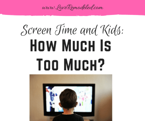 The Negative Affects of Screen Time on a Kid
