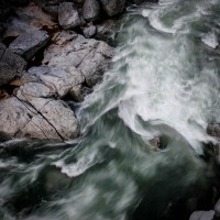 High water in the South Yuba River, CA