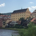 View of Cesky Krumlov Castle from the village