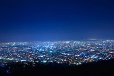 藻岩山からの美しい夜景