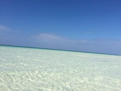 美しいハテの浜の海