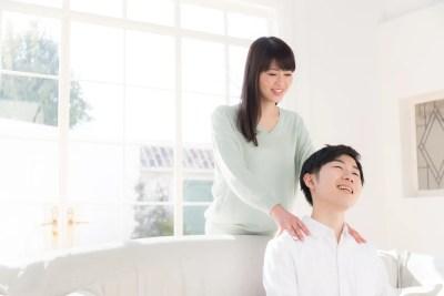夫への感謝を示す妻