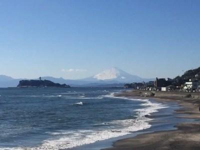 稲村ヶ崎公園で富士山と海を一望
