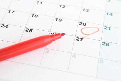 初旅行の日をカレンダーにチェックする