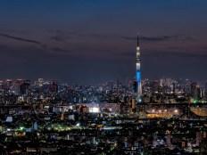 スカイツリーと東京都心の夜景