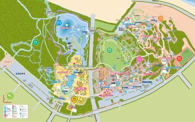 国営ひたち海浜公園の全体図