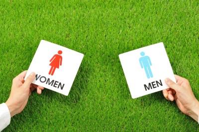 男女平等を示すプラカード