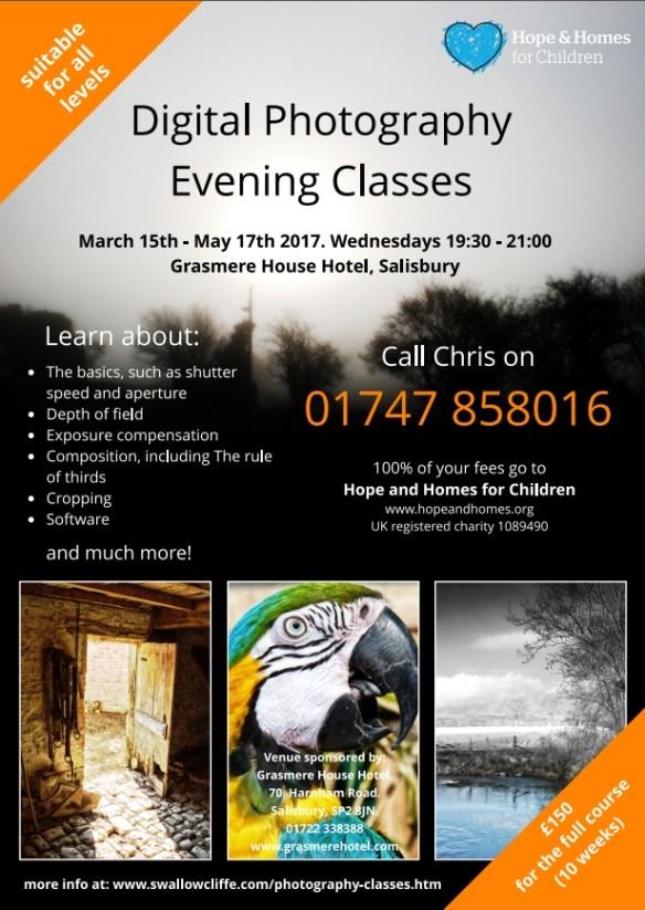 photography evening class salisbury