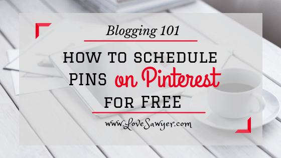Schedule Pins on Pinterest
