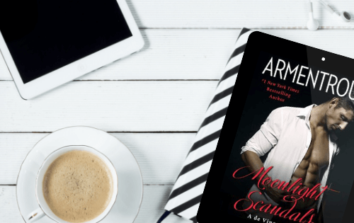 Look at that cover! He's gorgeous isn't he? 5 star romantic suspense book review of Moonlight Scandals by Jennifer L. Armentrout.