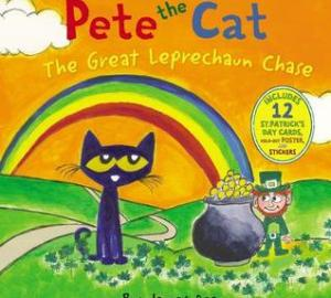 St. Patrick's Day books for kids Pete the Cat: the great leprechaun chase by james dean