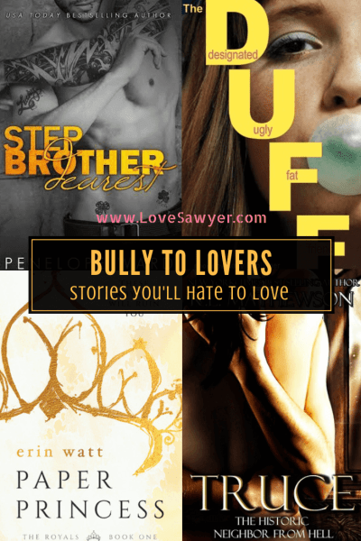bully to lover must read romance novel book list. Perfect reading recommendations for women.