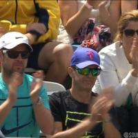 Roger Federer breaks back in the 2nd and Mirka &am...