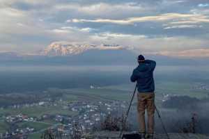 Камнишко-Савиньские Альпы, вид с замка Смледник