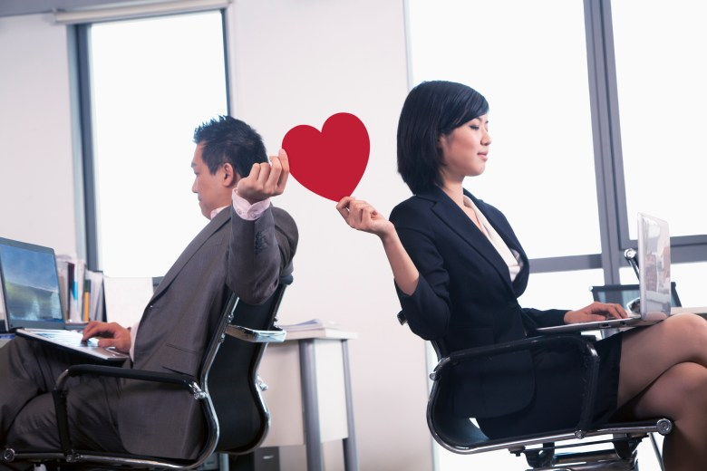 hiding romantic relationships at work