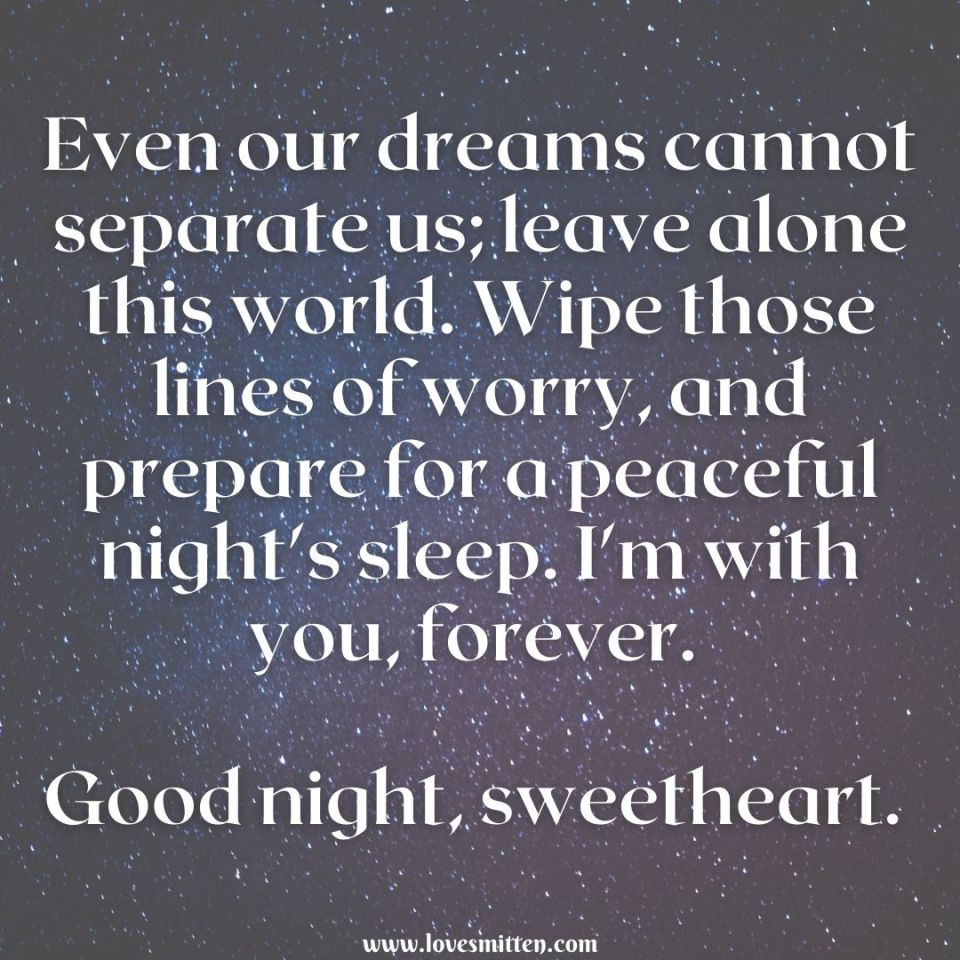good night messages for someone special