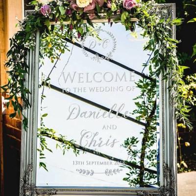 wedding mirror welcome sign 4
