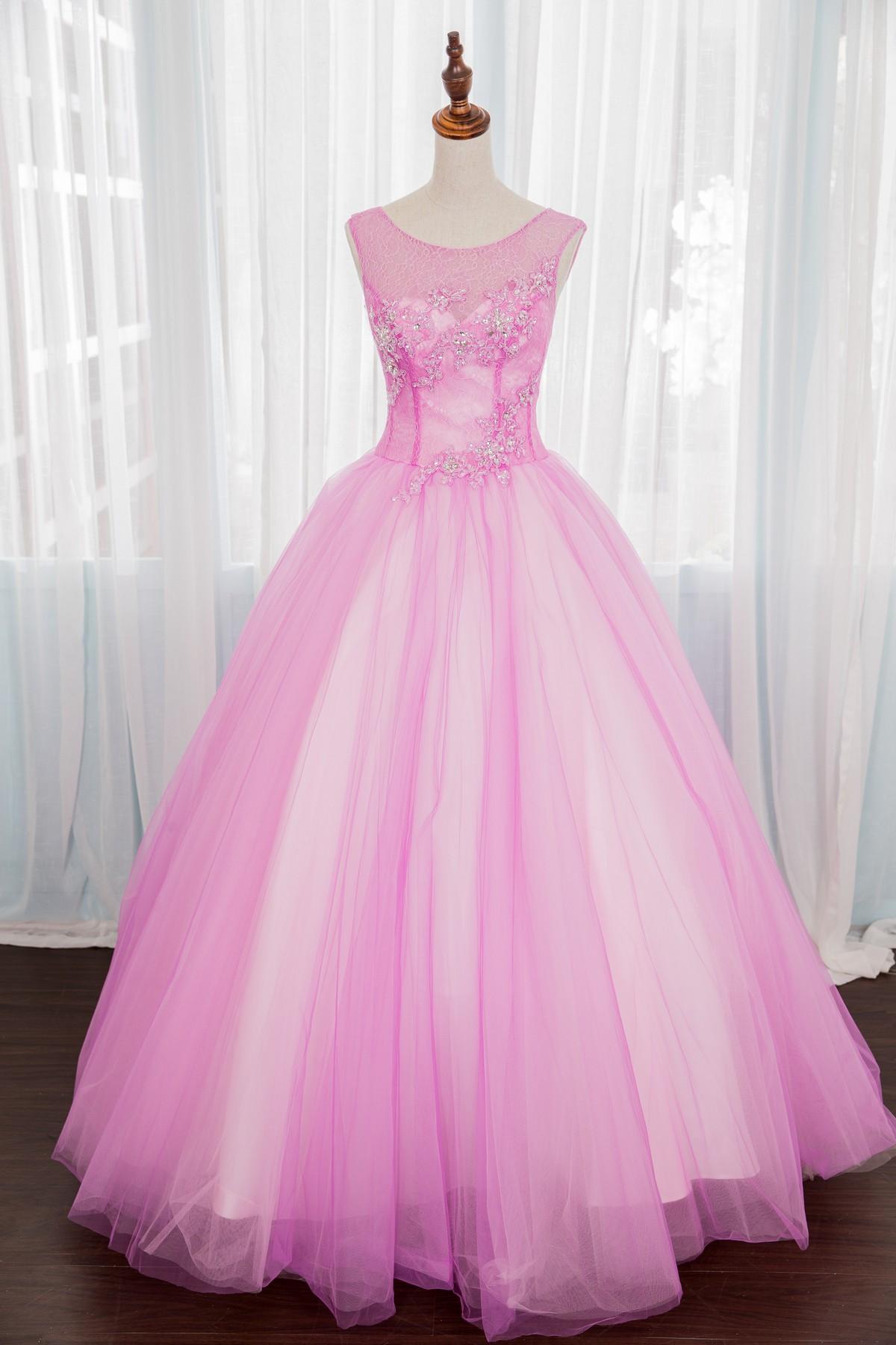 禮服出租:夢幻粉色法式宮廷晚禮服
