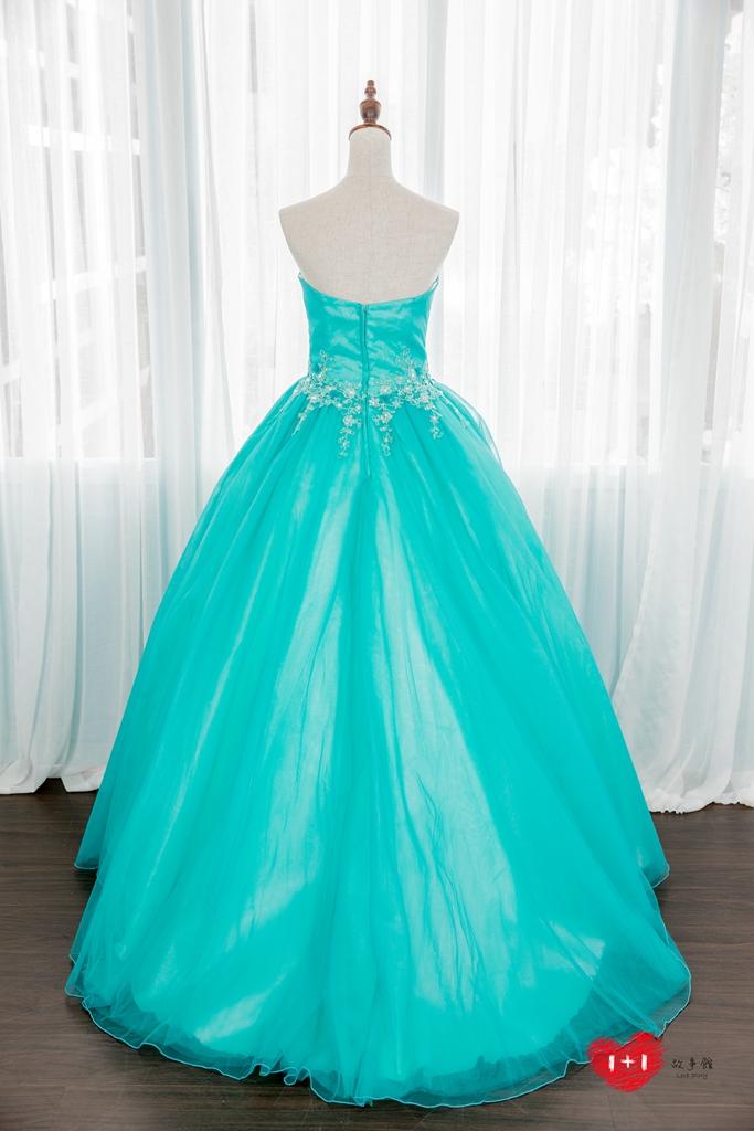 手工婚紗推薦:公主派開心蕾絲晚禮服