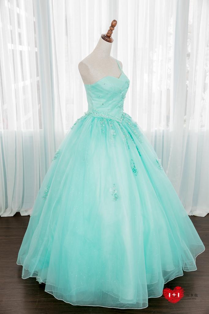 手工婚紗出租:閃亮亮光明未來晚禮服