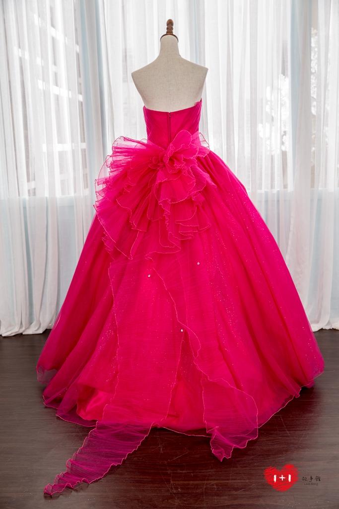 手工婚紗:雙面系特色晚禮服