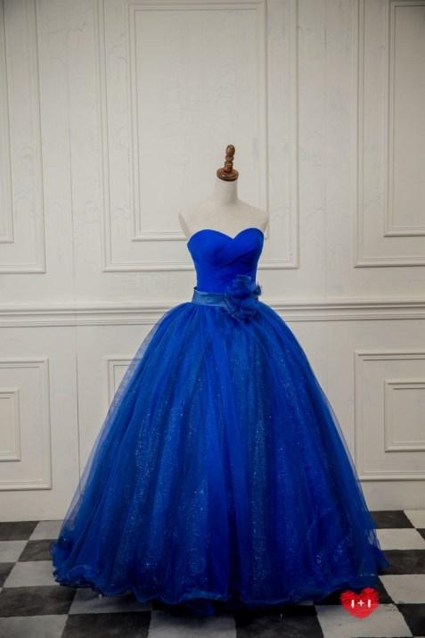 手工婚紗推薦:古典絲絨晚禮服