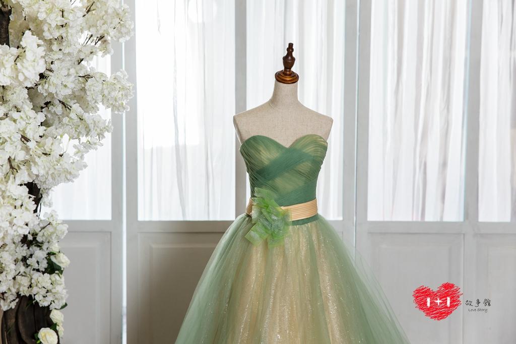 手工婚紗:花蝶舞鑽晚禮服