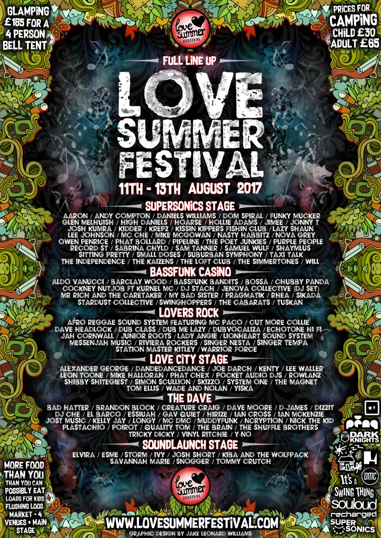 LOVE SUMMER FINISHED LINE UP V1