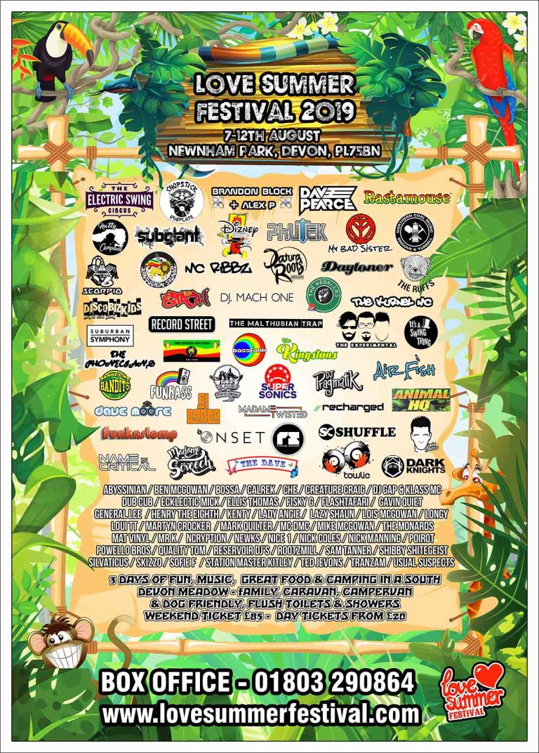 Love Summer Festival | Devon | Family Fun | Glamping | Festival | Southwest | Line Up | Plymouth | Family Fun | PL75BN