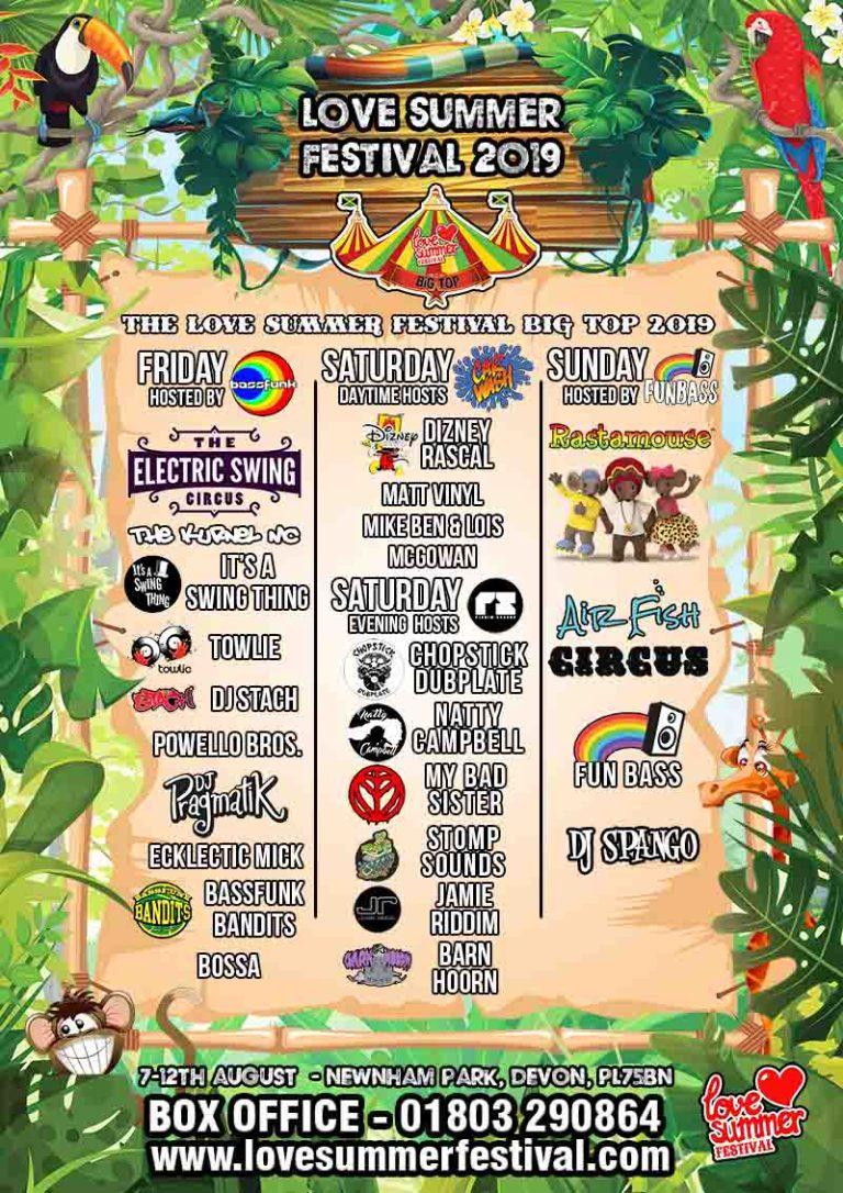 Love Summer Festival | Flyer 2019 - Big Top