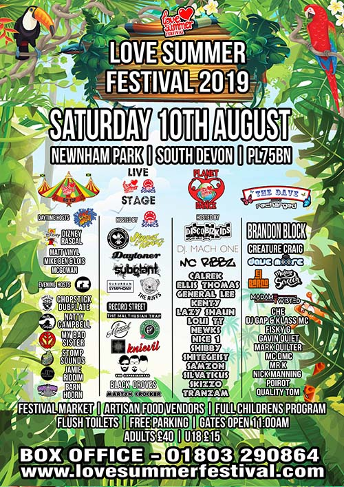 Flyer for Saturday 10th August