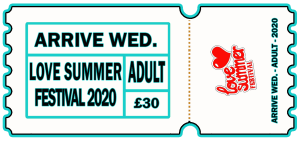Love Summer Festival | Festival | Arrive Early | Adult | Wednesday