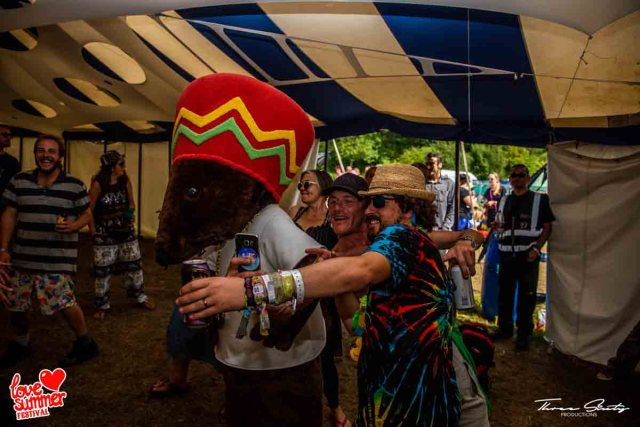 Rastamouse at Love Summer Festival. A Beautiful Family Festival in South Devon in August