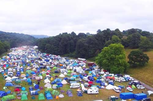 Aerial Love Summer Festival Campsite