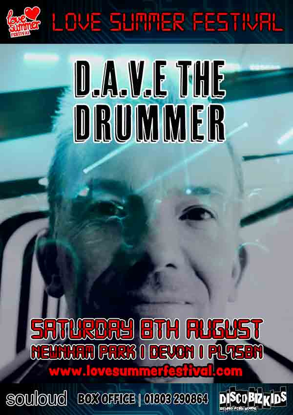 Dave The Drummer Festival Flyer