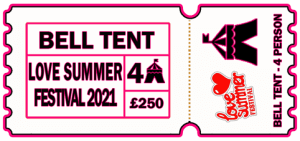 Ticket - 4 Person bell tent