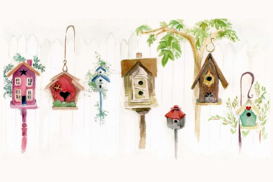 Inspired by my Granny's cute backyard bird house collection