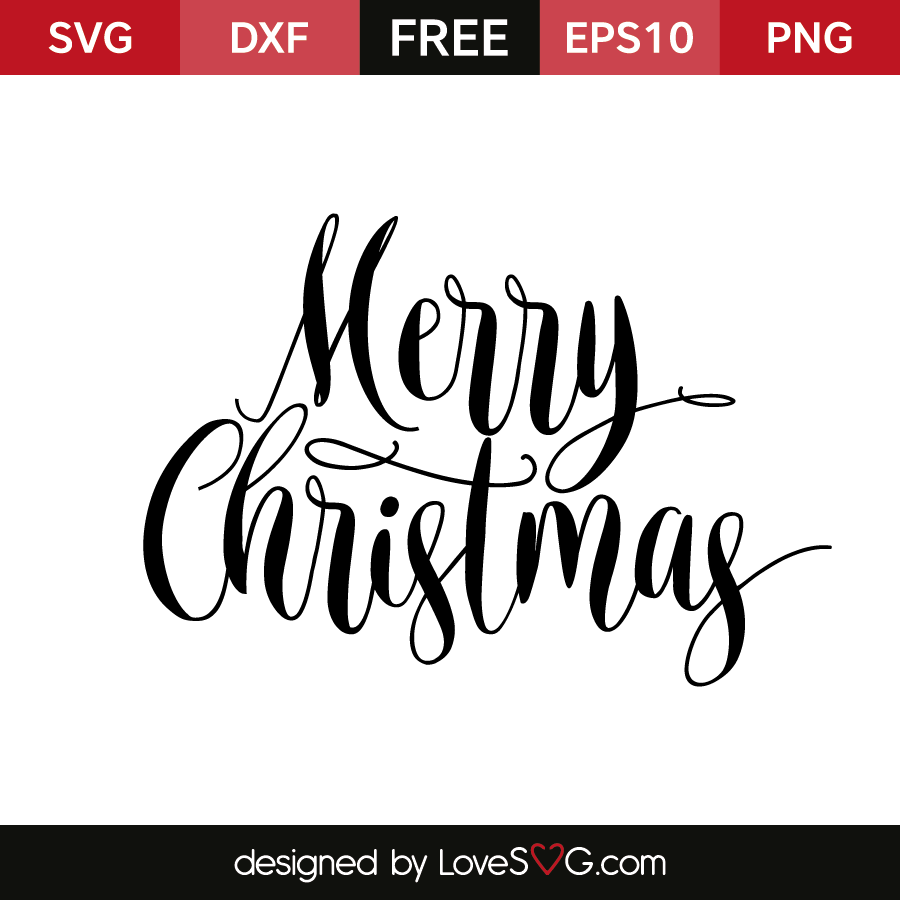 free svg files merry christmas