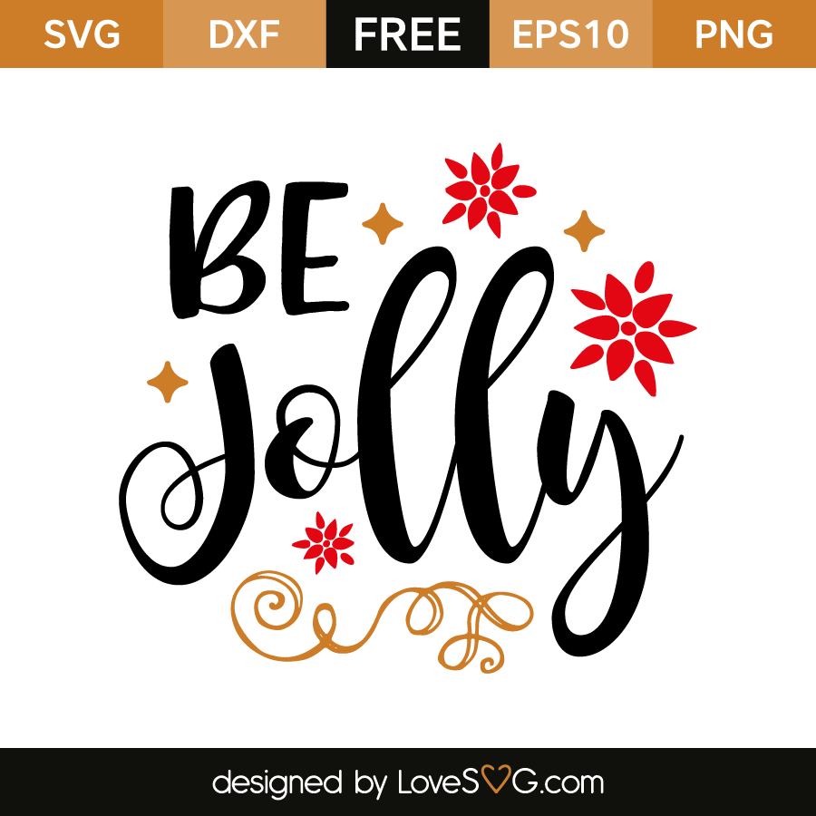 Free SVG cut file - Be Jolly