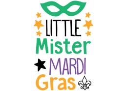 Free SVG cut file - Little Mister Mardi Gras